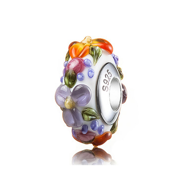 Luxury Colorful Flower Murano Glass Bead