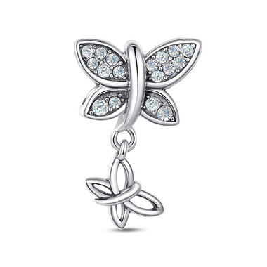 FANCY BUTTERFLY DANGLE CHARM - SWAROVSKI