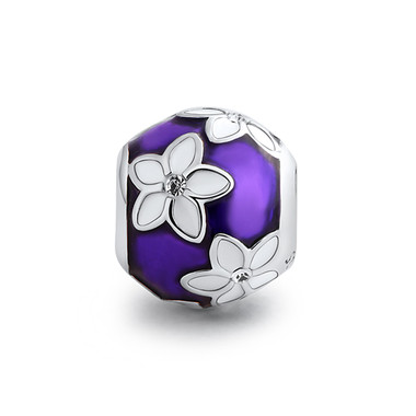 White Flower Purple Charm