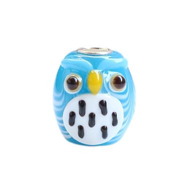 BLUE OWL CHARM