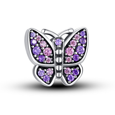 VIOLET BUTTERFLY CHARM