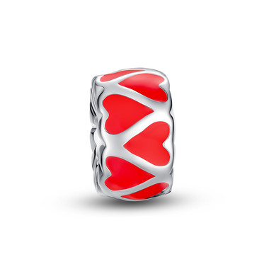 RED HEARTS CUFF CHARM