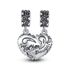 MOTHER & DAUGHTER HEART CHARMS