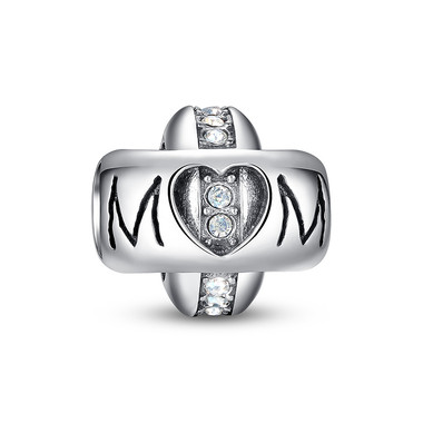 """MOM"" INTERLOCKING RINGS CHARM"