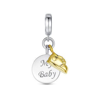 MY BABY SHOE DANGLE CHARM