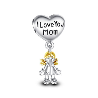 I LOVE YOU MOM DANGLE CHARM