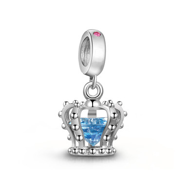 blue crown dangle charm