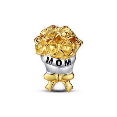 "LOVE ""MOM"" GOLD BOUQUET CHARM"