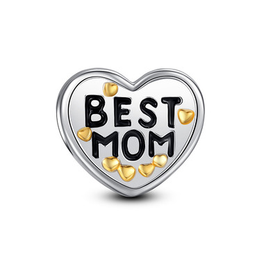 BEST MOM HEART CHARM