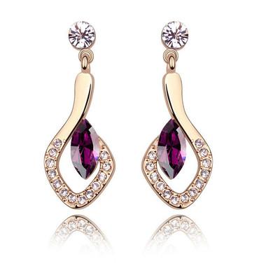 Austrian Crystal Purple Earring
