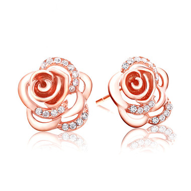 Rose Gold Plated Flower Earring