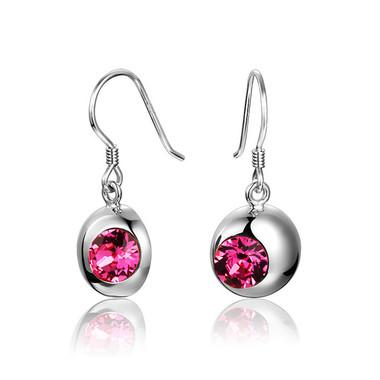 Austrian Crystal Pink Earring