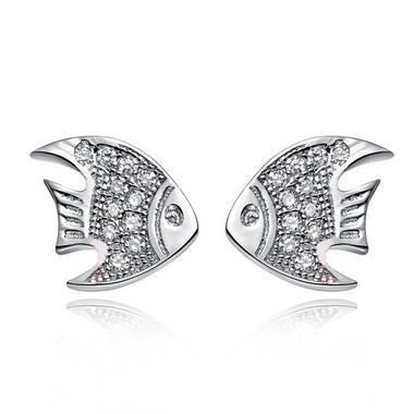 Austrian Crystal Happy Fishes Ear Studs