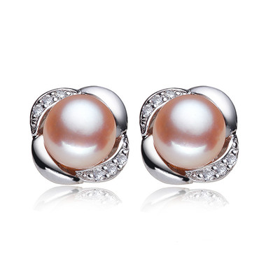 Pink Pearl Earring Studs