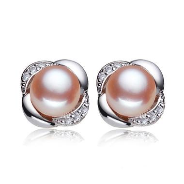 Pink Pearl Earring Studs