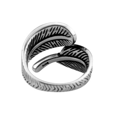 SILVER RING - LEAVES