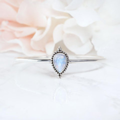 MOONSTONE CUFF - ENTWINED TEARDROP