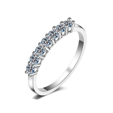 SILVER RING - GLITTERING DOTS