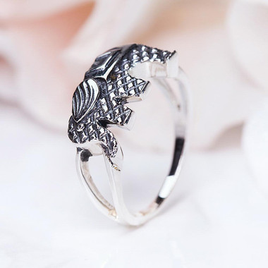 SILVER RING - EARTHBOUND ELEPHANT