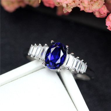 TANZANITE STERLING SILVER RING - THRONE