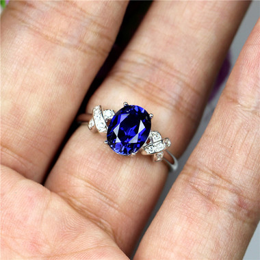 TANZANITE STERLING SILVER RING - INFINITY