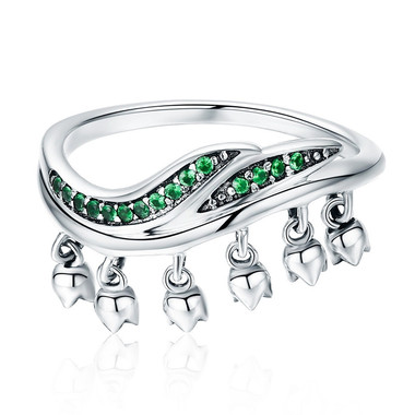 GREEN ZIRCON STERLING SILVER RING - EXOTIC