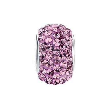 Royaro Birthstone Charm With Pink Crystal