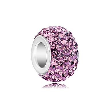 Royaro Birthstone Charm With Pink Crystal