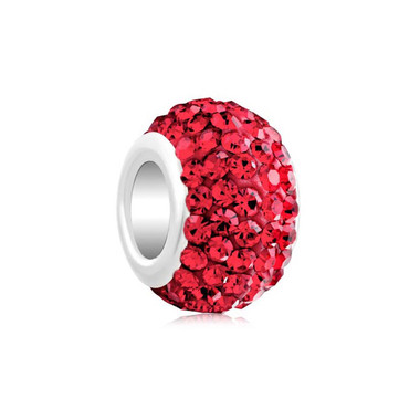 Royaro Birthstone Charm With Red Crystal