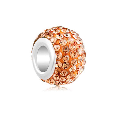 Royaro Birthstone Charm With Orange Crystal