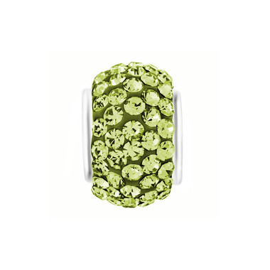 Royaro Birthstone Charm With Light Green Crystal