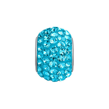 Royaro Birthstone Charm With Sky Blue Crystal