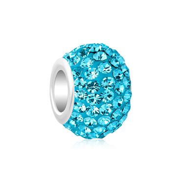 Royaro Birthstone Charm With Sky Blue Crystal