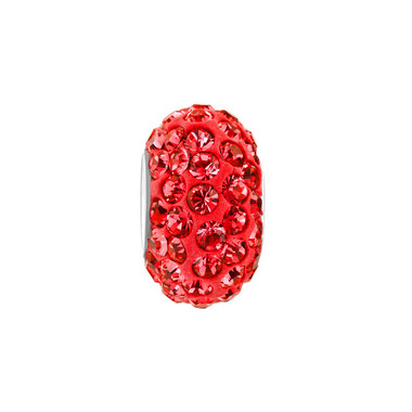 Royaro Birthstone Charm With Light Red Crystal