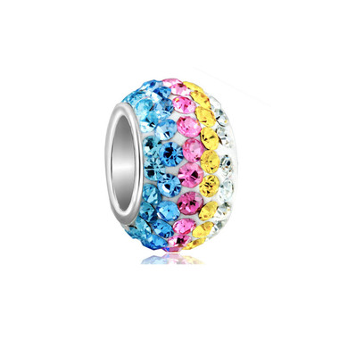 Birthstone Charm With Blue&Rose&Yellow Element Crystal