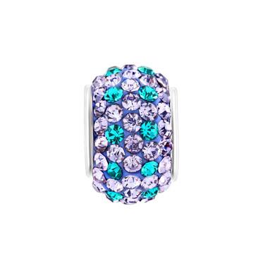 Blue Purple Crystal Charm