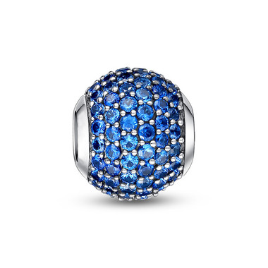 DECEMBER BIRTHSTONE-BLUE PAVED CRYSTAL CHARM