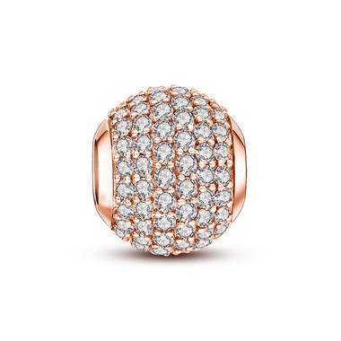 Rose Gold Plated Crystal Paved Charm