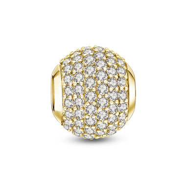Gold Plated Crystal Paved Charm