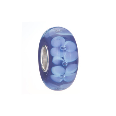 Purple Flower Murano Glass Bead