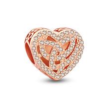 Love Knitting Rose Gold Charm