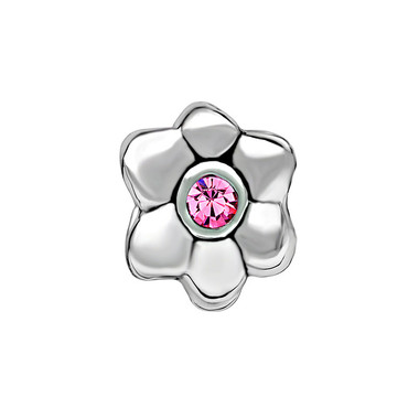 Silver Daisy Flower Charm