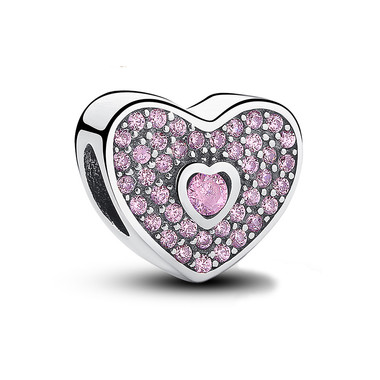 Pink Love HEART CHARM