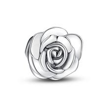 JUNE FLOWER-SILVER ROSE CHARM