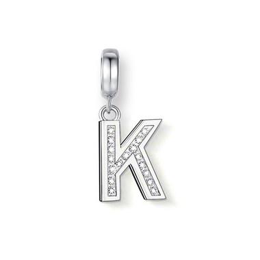 """CRYSTAL """"K"""" DANGLE CHARM"""