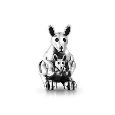 Kangaroo mother and child