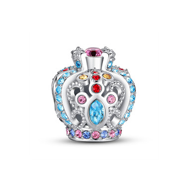 ENCRUSTED OPENWORK CROWN CHARM