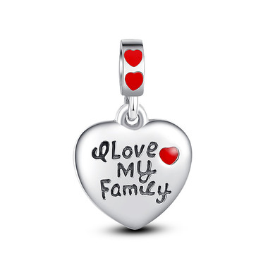I LOVE MY FAMILY PENDANT CHARM