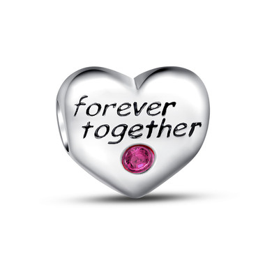 FOREVER TOGETHER HEART CHARM
