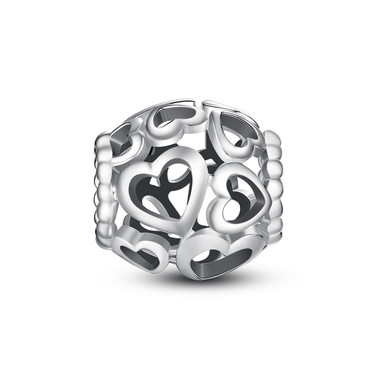 FULL OF LOVE SILVER CHARMS